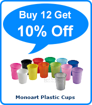 Monoart Plastic Cups