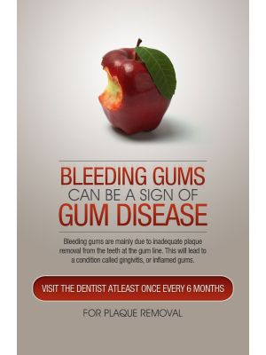 Poster English Bleeding Gems Can Be Sign of Gum Disease  - 080