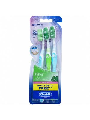 Oral-B Ultrathin Sensitive Green Toothbrush 3/pk - 4902430713795