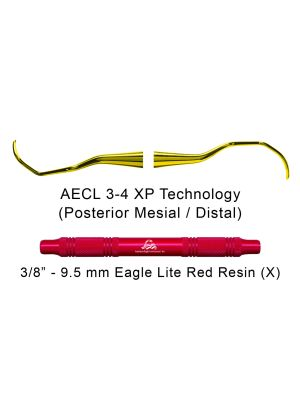 American Eagle Curette Langer 3-4 Red Resin Handle with XP Technology - AECL3-4XPX