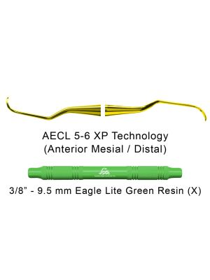 American Eagle Curette Langer 5-6 Green Resin Handle with XP Technology - AECL5-6XPX