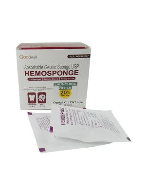 Goodwill Hemosponge 20x20x7 MM Absorbable Gelatin Sponge 10/pk - AGS202007