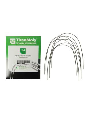 G&H TitanMoly Titanium Molybdenum Archwires (Damon Compatible) Europa Form II Pack of 10 Pcs