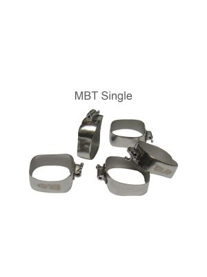 Centrino Preformed Molar Band With Prewelded MBT Buccal Non-Convertible Tubes Pack of 5 Pcs