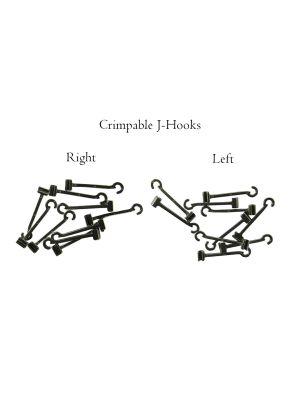 Rabbit Force Crimpable J-Hooks 10/pk