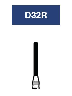 Strauss FG Diamond Burs Cylinder Rounded Shoulder 012 6/pk - D32R / SR-11