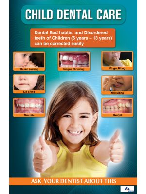 Poster English Child Dental Care - 077
