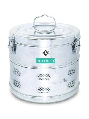 Equitron Stainless Steel Dressing Drums for Top Loading Autoclaves