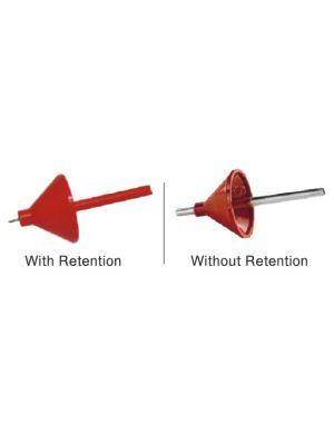 Dentaurum Sprue Former with Retention / Without Retention 1/pc