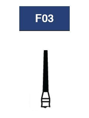 Strauss FG Diamond Burs Flat End Taper 012 6/pk - F03