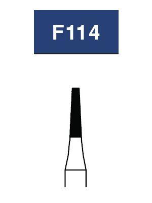 Strauss FG Diamond Burs Flat End Taper 012 Medium Short Shank 6/pk - F114SM