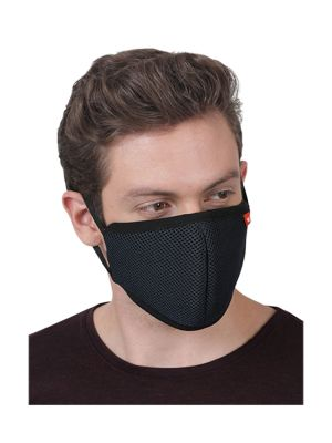 LD Facemask Adults Black HYPASHIELD W95 3-Layer Reusable 1/pk - LD-325N
