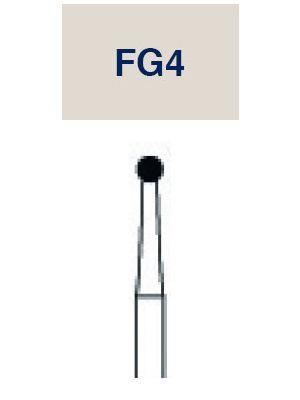 Strauss 6 Bladed Operative & Surgical Carbide Round FG Bur - 014 10/pk - FG4