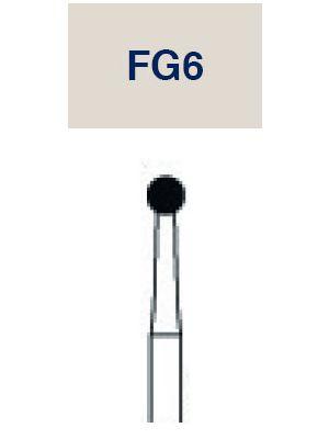 Strauss 6 Bladed Operative & Surgical Carbide Round FG Bur - 018 10/pk - FG6
