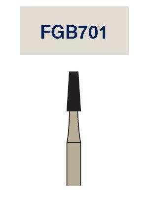 Strauss Cardbide Metal Cutting Barracuda Cross Cut Tapered Fissure Bur 012 3/pk - FGB701