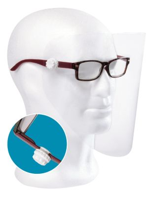 Astek Glasses Mounted Face Visor Kit