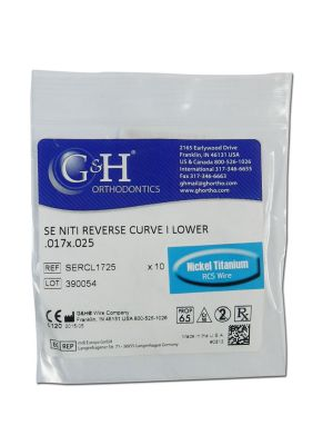 G&H Reverse Curve Niti Regular Wire Pack of 10 Pcs (In Zip Bags)