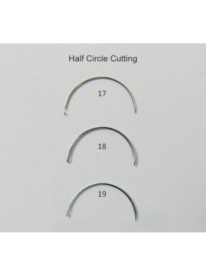 Lifeline Stainless Steel Suture Needles Half Circle Cutting 6/pk x 4