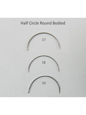 Lifeline Stainless Steel Suture Needles Half Circle Round Bodied 6/pk x 4