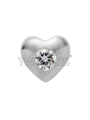 Twinkles Heart 18 K White Gold with Diamond 0.01 Ct - Art No. 221