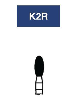 Strauss FG Diamond Burs Egg/Football 023 6/pk - K2R