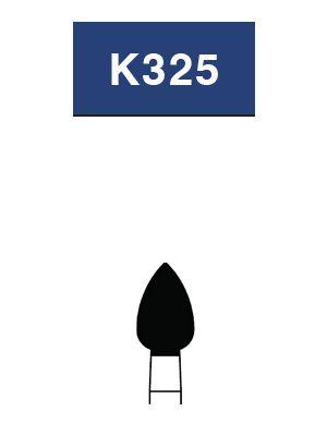 Strauss FG Diamond Burs Egg/Football 032 6/pk - K325 / F0-27