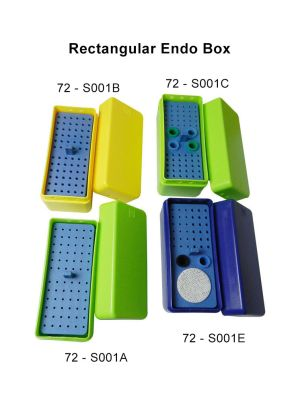 LD Autoclavable Rectangular Endo Box 72 - S001
