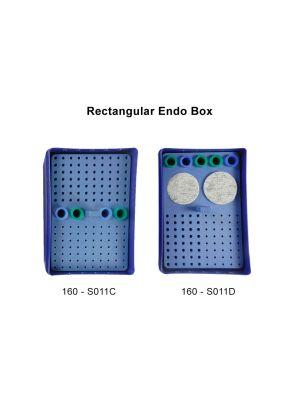 LD Autoclavable Rectangular Endo Box 160 - S011