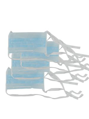 LD Super Eco Face Mask 2 Ply Tie - on Blue 50/pk - LD-256N