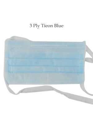 LD Super Eco Face Mask 3 Ply Tie - on Blue 50/pk - LD-258N