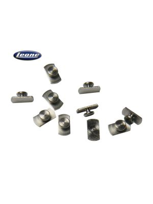Leone Weldable Lingual Buttons Flat 10/pk - G2860-00