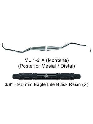 American Eagle Universal Curette Langer 1-2 Montana Black - ML1-2X