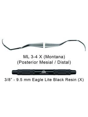 American Eagle Universal Curette Langer 3-4 Montana Black - ML3-4X