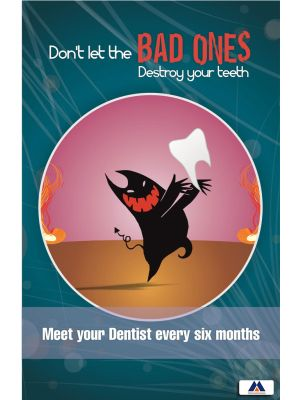 Poster English Dentist Every 6 Months (Paper) PO-002