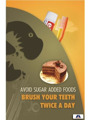 Poster English Avoid Sugar Added Foods (Paper) PO-006