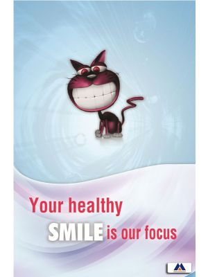 Poster English Your Healthy Smile is our Focus (Paper) PO-009