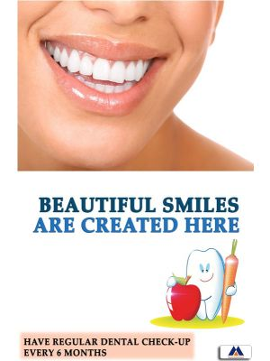 Poster English Beautiful Smiles are Created Here - 027