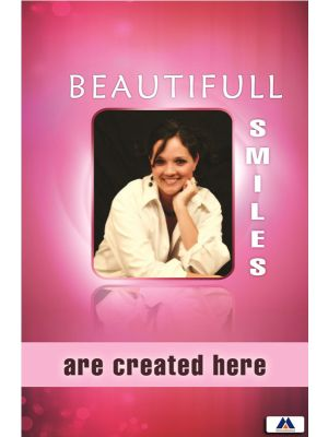 Poster English Beautiful Smiles are Created Here - 031