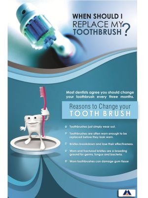 Poster English Change Your Tooth Brush - 050