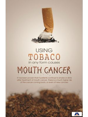 Poster English Tobacco Causes Mouth Cancer (Paper) PO-055