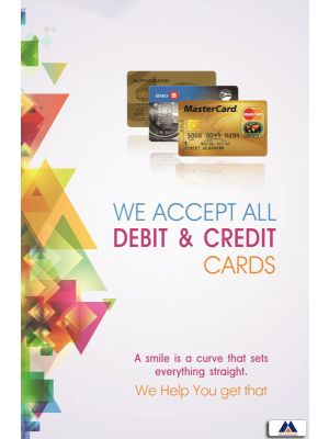 Poster English Debit & Credit Cards accepted (Paper) PO-056