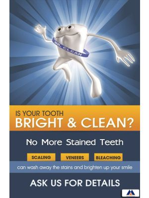 Poster English Is Your Teeth Bright & Clean (Paper) PO-067