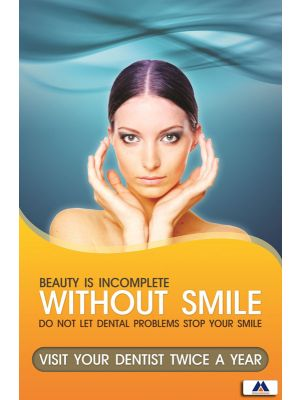 Poster English Visit Dentist Twice an Year (Paper) PO-068