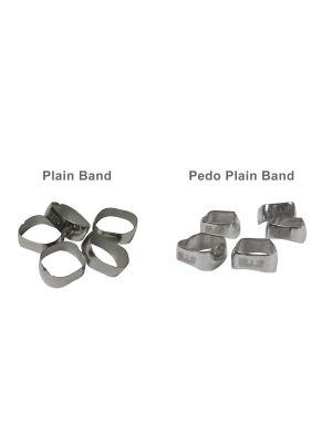 Captain Ortho Preformed Plain Molar Band Individual Pack of 5 Pcs / Starter Kit 200/pk