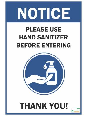 Poster English Please Use Hand Sanitizer (COVID-19) - 102