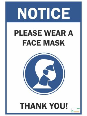 Poster English Please Wear a Face Mask (COVID-19) - 103