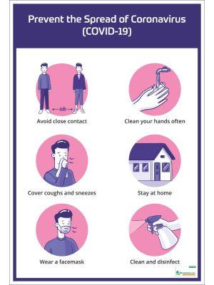Poster English Prevent the Spread of Coronavirus (COVID-19) - 105