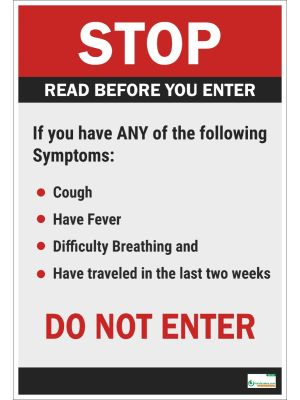 Poster English STOP Read Before You Enter (COVID-19) - 107