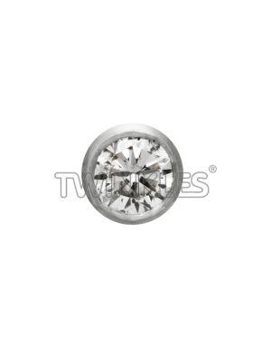 Twinkles Round 18 K White Gold with Brilliant Diamond 0.02 Ct - Art No. 233
