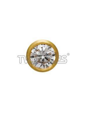 Twinkles Round 22 K Gold with Diamond 0.01 Ct. - Art No. 126